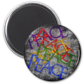 Words of Peace 2 Inch Round Magnet