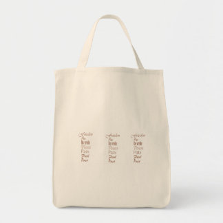 Words of Peace Grocery Tote
