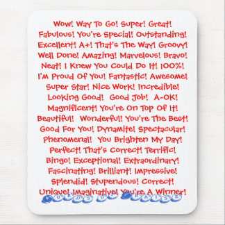 Words of Praise Mouse Pad