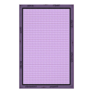 Words of Purple Stationery
