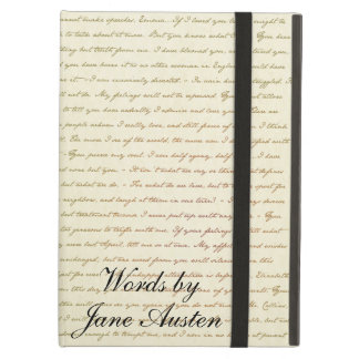 Words of the Best Quotes from Jane Austen iPad Air Cover