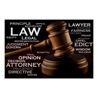 Words of the Legal industry Poster