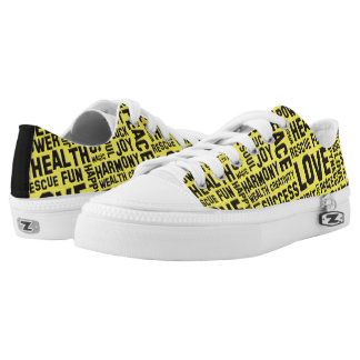 Words Of The Spirit Way black + your backgr. color Printed Shoes