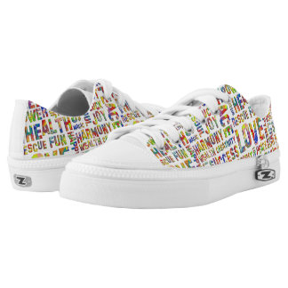 Words Of The Spirit Way Flower Power + your backg. Printed Shoes