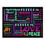 Words Of The Spirit Way Postcards
