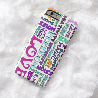 Words Of The Spirit Way + your background color Barely There iPhone 6 Case