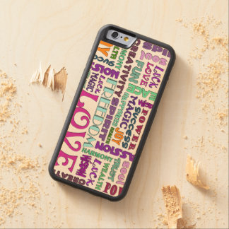 Words Of The Spirit Way + your background color Carved Maple iPhone 6 Bumper Case