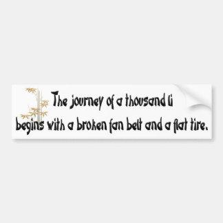 Words of Wisdom 3 Car Bumper Sticker