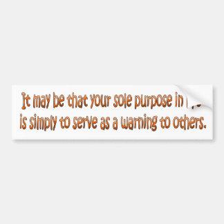 Words of Wisdom 5 Bumper Sticker