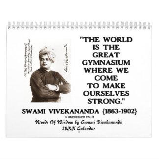 Words Of Wisdom By Swami Vivekananda 20XX Calendar