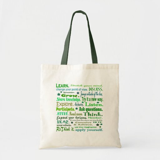 Words of Wisdom Collage Sack Bag