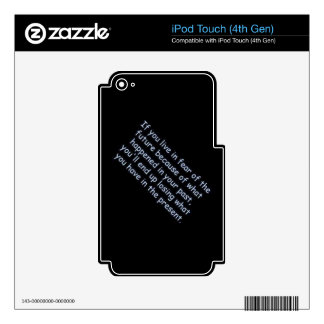 Words of Wisdom comments expressions sayings black Decal For iPod Touch 4G