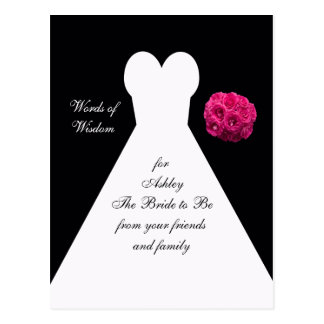 Words of Wisdom for Brides Post Card - Bridal Gown