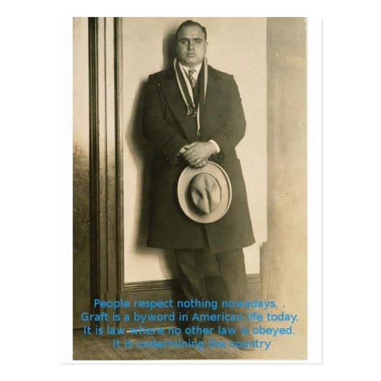 Words Of Wisdom From Al Capone? Postcard