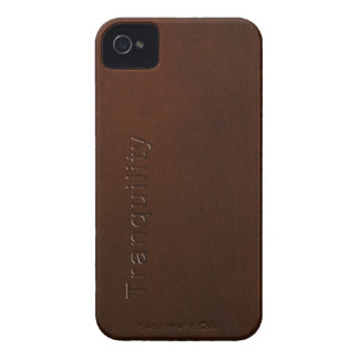 Words of Wisdom in Wood: Tranquility iPhone 4 Cover