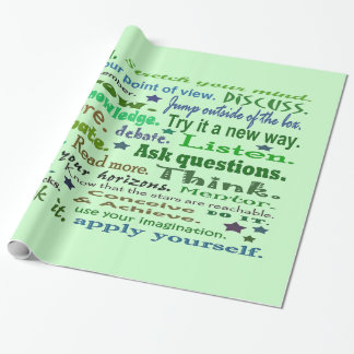 Words of wisdom wrapping paper