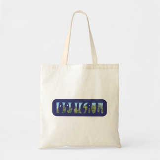 Words Optical and Illusion in one Illustration Tote Bag