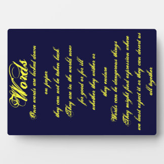 Words ...Plaque Plaque