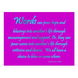 words postcard