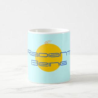 words radiant being coffee mug