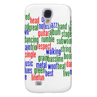 Words related to playing bass, red blue green samsung galaxy s4 case