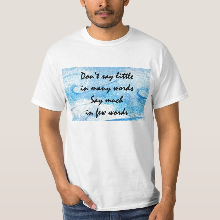Words T-Shirt Gift Blue