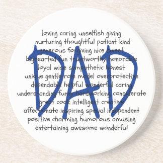 Words to Describe Dad Coaster