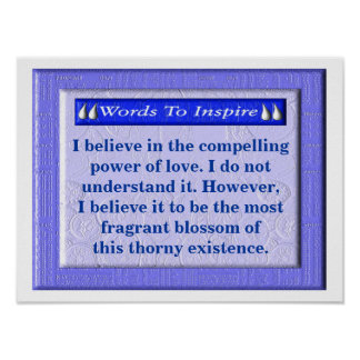 Words To Inspire - love Poster