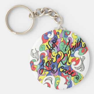 words to live by basic round button keychain