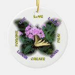 Words to Live By Ornament or Pendant