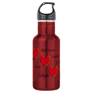 Words to live by 18oz water bottle