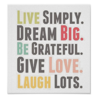 words to live by poster
