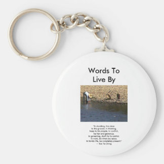 Words To Live By --Tao Te Ching Guilin 2002 Woman Basic Round Button Keychain