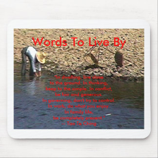 Words To Live By --Tao Te Ching Guilin 2002 Woman Mouse Pad