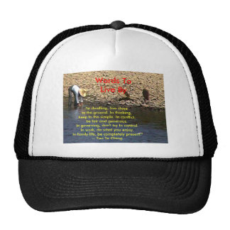 Words To Live By --Tao Te Ching Guilin 2002 Woman Trucker Hat