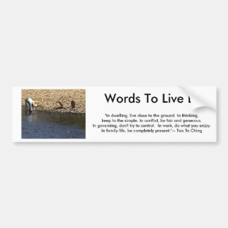 Words To Live By - Tao Te Ching Guilin Woman jGibn Bumper Sticker