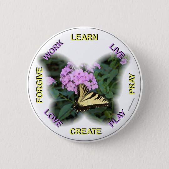 WORDS TO REMEMBER PINBACK BUTTON