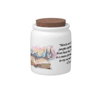 Words Transport Us... Candy Jar