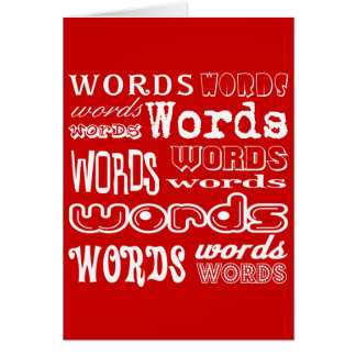 """""""Words"""" Typography Card"""