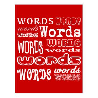 """Words"" Typography Postcard"