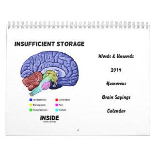 Words & Unwords 2014 Humor Brain Sayings Calendar