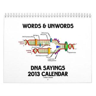 Words & Unwords DNA Sayings 2013 Calendar