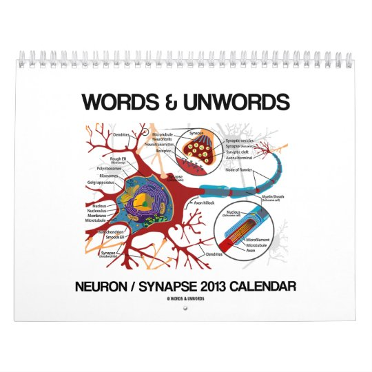 Words & Unwords Neuron / Synapse 2013 Calendar