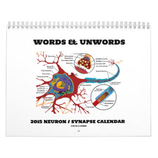 Words & Unwords Neuron / Synapse 2015 Calendar