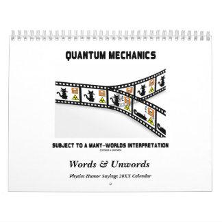 Words & Unwords Physics Humor 20XX Calendar
