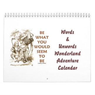 Words & Unwords Wonderland Adventure Calendar