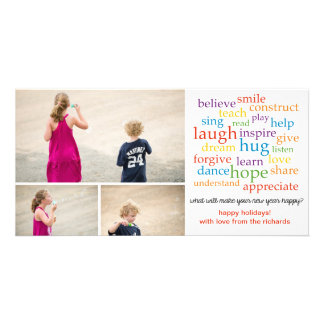 Words x3 photo card