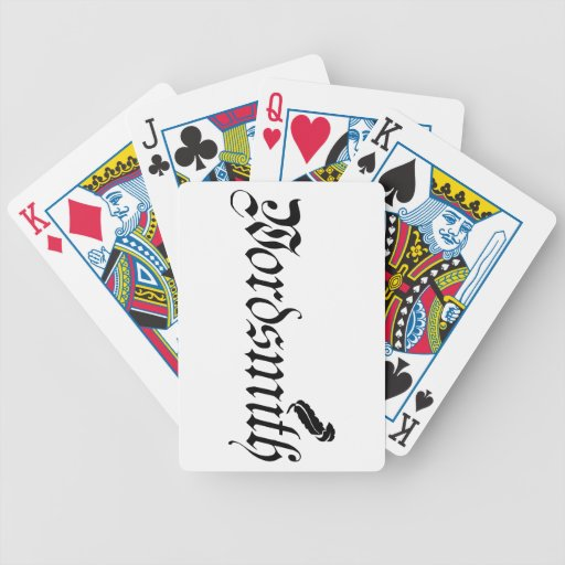 Wordsmith Bicycle Playing Cards