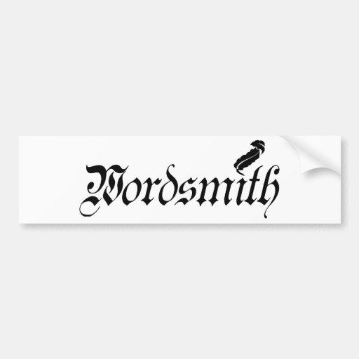 Wordsmith Car Bumper Sticker