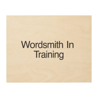 Wordsmith In Training.ai Wood Canvases